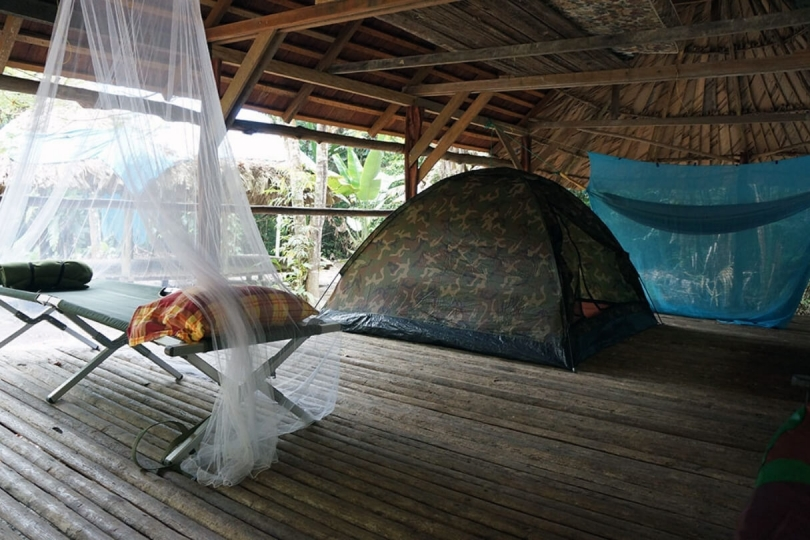 Suriname Rundreise: Camping in Palulu